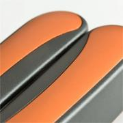 Coloured aluminium inlays