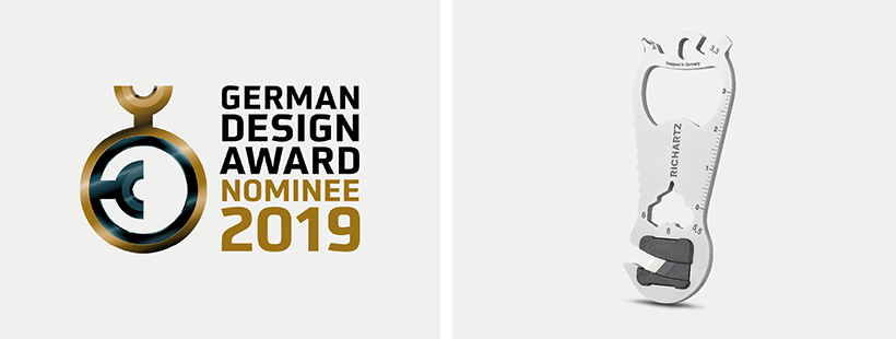KEY tool cut. Functional, sharp, well-designed. German Design Award Nominee 2019!